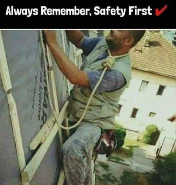 Be sure to tie off - Imgur